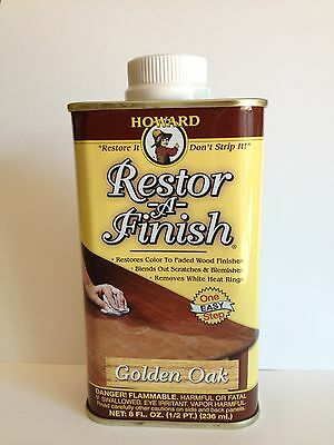 Howard Restor A Finish 8oz GOLDEN OAK - New