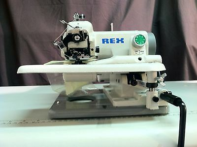REX RX-518 INDUSTRIAL  Portable Blindstitch Sewing Machine