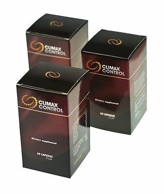CLIMAX CONTROL 60 Pills Premature Ejaculation ORGASM DELAY 100% NATURAL XtraSize
