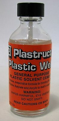 Plastruct Plastic Weld with applicator 2oz, Plastic Cement