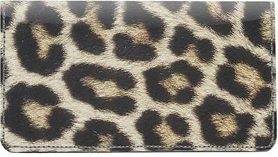 Leopard Print Leather Checkbook Cover