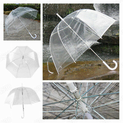 New Clear See-through Rain Umbrella Bubble Dome Shaped No Trim