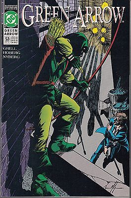Green Arrow  #53 1991 Dc -Old Friends  Grell/ Hoberg  A/r...nm-