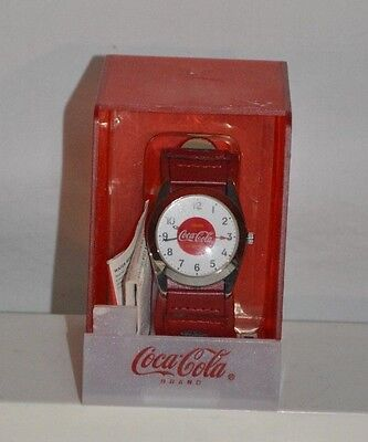 Coca cola watch red wrist band unopened NEW