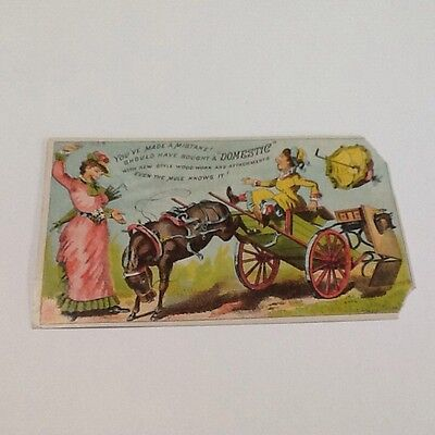Vintage Trade Card Domestic Sewing Machines