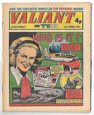 Valiant 30th Mar 1974 (high grade copy) Kid Phaoah, Kelly's Eye, Janus Stark
