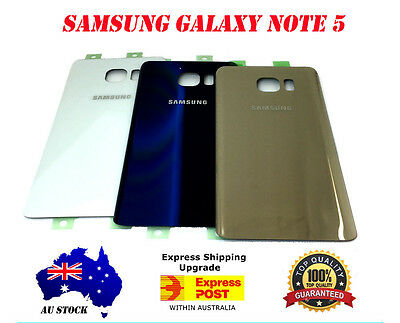Samsung Galaxy Note 5 OEM Back Battery Glass Cover Case Housing Door Replacement