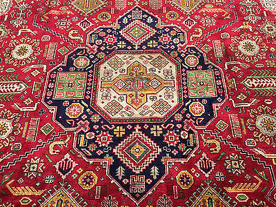 10x13 HAND KNOTTED WOVEN RUG PERSIAN MADE HERIZ IRAN WOOL AREA 10 x 13 rugs 9 14