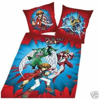 2Pcs Bedding Set Yu-Gi-OH-GX Duvet Cover Pillow Case 100% Cotton 135x200cm New