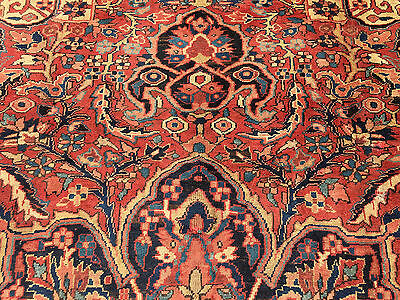 9x12 HAND KNOTTED WOVEN RUG PERSIAN HERIZ IRAN WOOL AREA RUGS 9 x 12 made 8 13 7