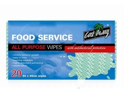 Prime Source All Purpose Wipes 60X45cm Green Pack 20