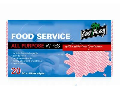 Prime Source All Purpose Wipes 60X45cm Red Pack 20
