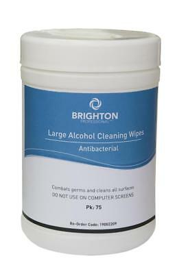 Brighton Professional Cleaning Wipes Antibacterial Alcohol Base 140mmx340mm Larg