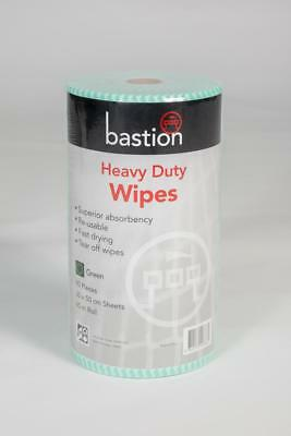 Bastion Heavy Duty Wipes 45m Roll 90 Pieces 30X50cm Green Roll