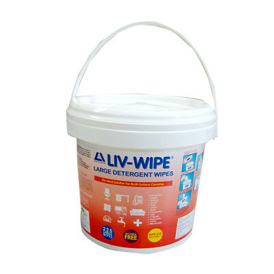 Livingstone Wipe Large Detergent Wipes Tub 225 Sheets Each