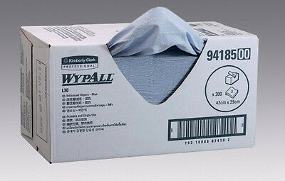 Kimberly Clark Wypall 94185 Emboss/Wipers 3Ply 42X39cm Blue Carton 200