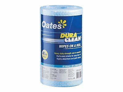 Oates Clean Durawipes Roll 30cmx45m Blue
