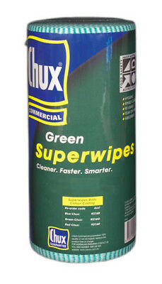 Chux 9318 Superwipe Regular Perforated 22.5cmx65m Green Roll