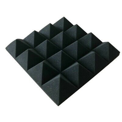 Acoustics Pyramid Foam inch3 x 12 x 12  (24 Pack) of  Panel for Soundproofing.