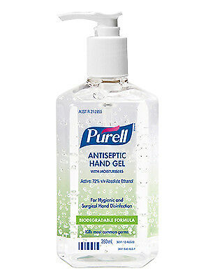 Purell Antiseptic Hand Sanitiser Gel Pump 350ml