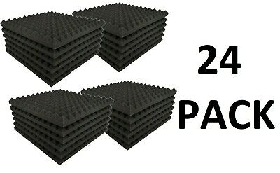 Acoustics Pyramid Foam inch 1 x 12 x 12  (24Pack) of  Panel for Soundproofing.