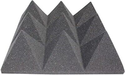 Acoustics Pyramid Foam inch 4 x 12 x 12  (12Pack) of  Panel for Soundproofing.