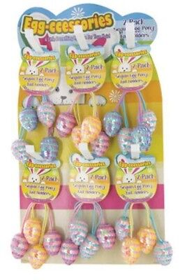 Easter Sequin Egg 2 Pack Pony Tail