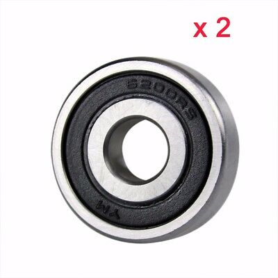 6200RS Groove Radial Ball Wheel Bearings Rubber Seals For Motorbike Motorcycle