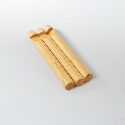 3pc Jumbo Crochet Hook set Bamboo wooden