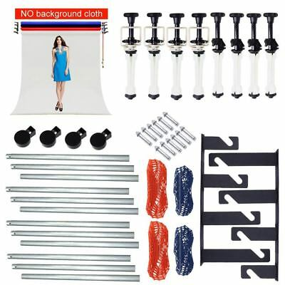 UK 4 Roller Wall Ceiling Mount Manual Background Support System + 4X 3M Crossbar