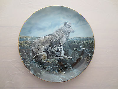 Above Timberline Wolf Plate Wolf Encounters  Bradford Exchange Terry Isaac
