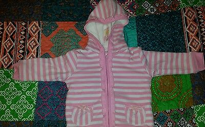 Baby girls lined hooded jacket sizes 0