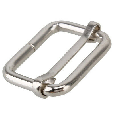 20X Metal Sliding Bar Wire-formed Roller Pin Buckles Slider 25mm Strap A2Y2