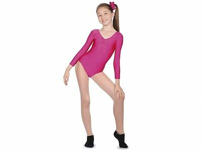 New Girls/ladies Long Sleeve Leotard All Sizes/colours Roch Valley