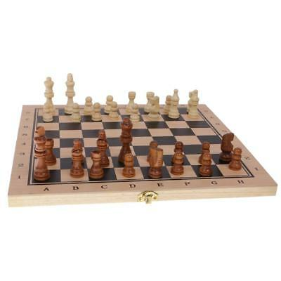 29 x 29cm 3 in 1 Fold Chess Set Board Game Checkers Backgammon Draughts M