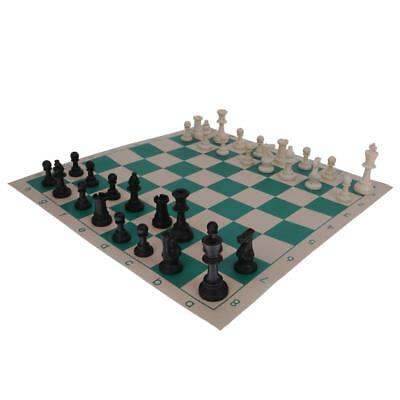 Traditional Roll Up Mat CHESS BOARD GAME Set 32 Pcs Fun Party Favor Medium
