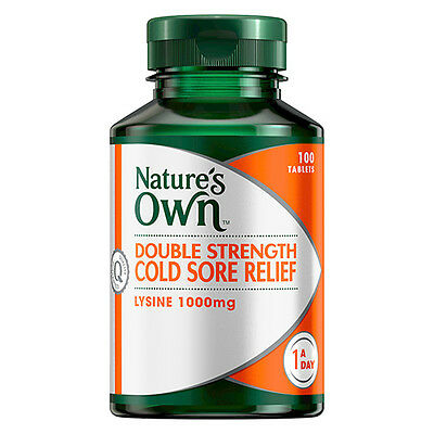 NEW Nature's Own Cold Sore Relief Tablets Double Strength Cold Sore Relief 100x