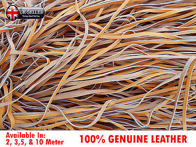 3mm 100% Real Genuine Pure Flat Leather Hide Craft Cord Lace Rope Jewelry - Tan