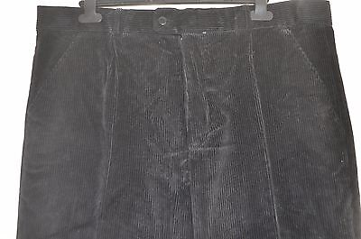 Vintage Mountain Pass black heavy duty corduroy trousers size 38 country classic