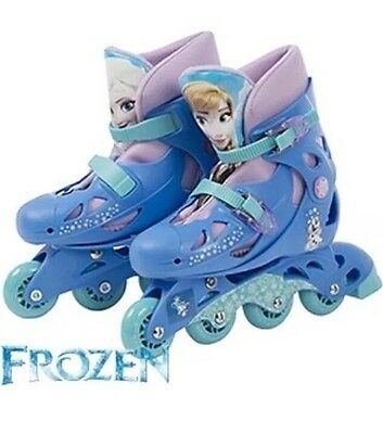 Disney Frozen  Adjustable Inline Skates Boots Size Between 13J - 3 NEW FREE P&P
