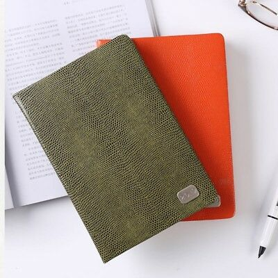 Olive Green Lizard Faux Leather 2019 Daily Planner Day per Page Appointment Book