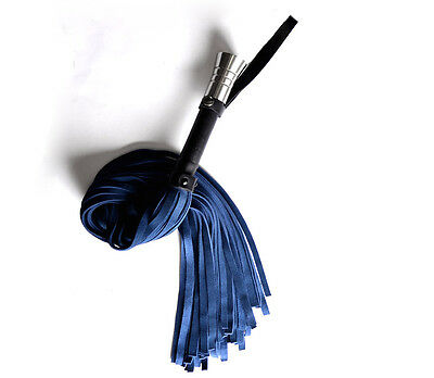 PREMIUM Handcrafted stunning quality leather flogger BLUE wh1blu