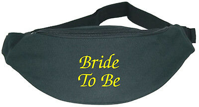 Bride To Be / Hen Party Bum Bag - Black Pink Various Colours FREE POSTAGE Bridal