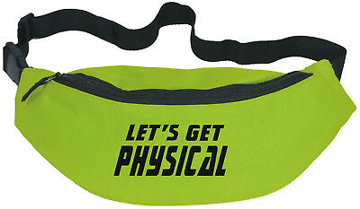 Let's Get Physical / 80s Fun Bum Bag 1980s Theme Fitness / Party FREE POSTAGE