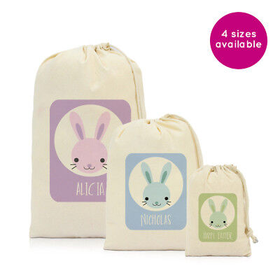 Large easter gift bag extra wide base 26cm h 33cm w 18cm depth personalised name easter eggs gift drawstring bag party kids presents sack negle Image collections