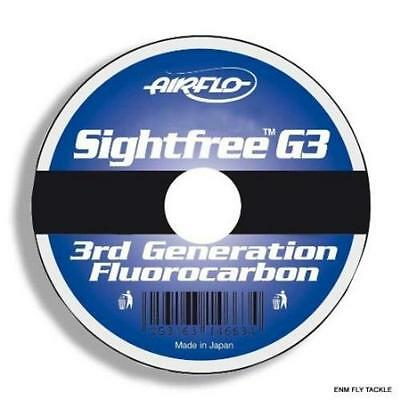New Airflo Sight Free Durable G3 Fluorocarbon Trout/Salmon Fishing Line