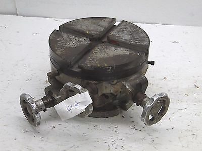 VINTAGE  8'' CROSS SLIDE 3 AXIS ROTARY INDEXING TABLE MACHINIST grinding #6