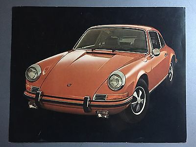 1972 Porsche 911 Coupe Showroom Advertising Sales Sheet RARE!! Awesome L@@K