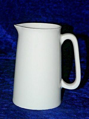 White jug -White bone china milk jug 1/2 pint straight sided farmhouse style jug