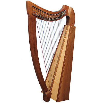 Plain 22 String Trinity Harp with Levers, Celtic harp, Irish Harp with Levers